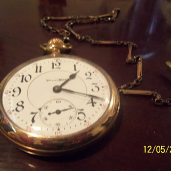 1916 Wadsworth Referre 21 ruby jewels double roller Illinois Watch Company 1522913 - Pocket Watches