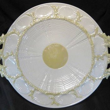 Belleek Handled Serving Plate