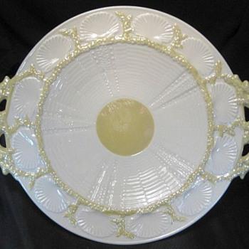 Belleek Handled Serving Plate