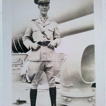 "1920's Sea going US Marine Officer snap shot 2"" X3"" - Military and Wartime"