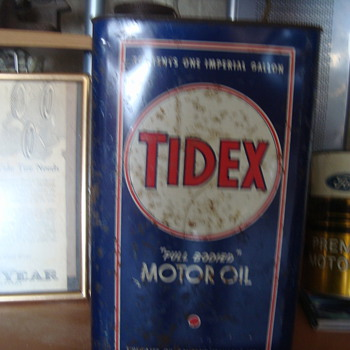 tidex    oil can  - Petroliana