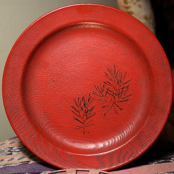Red Laquered Plate
