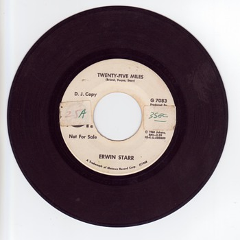 Edwin (Erwin) Starr 45 RPM Mislabeled with wrong name. Twenty-five Miles