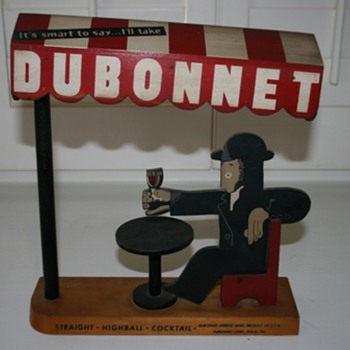 Wood Dubonnet advertising sign - Breweriana