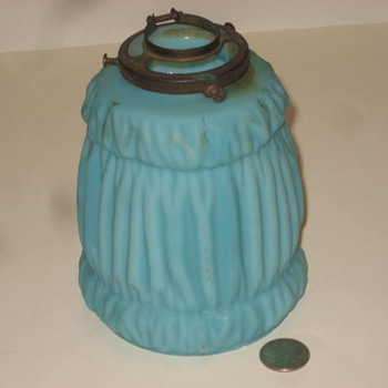 Blue Satin Finish Light Shade