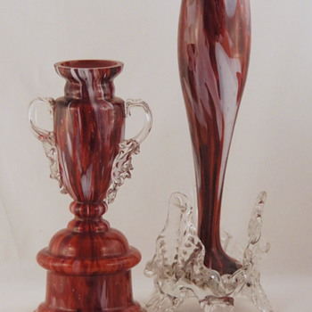 Welz & Other Oxblood Decors - The Effect of Lining Colors On Decors - Art Glass