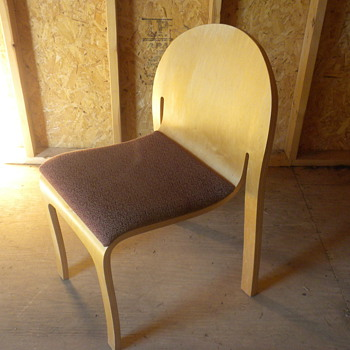 one piece wooden chair