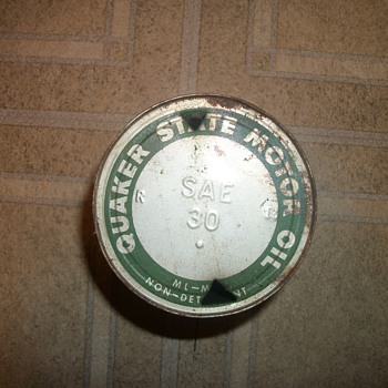 Quaker State Oil Can