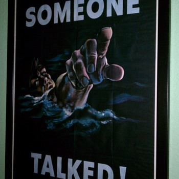 Original 1942 WW II &quot;Someone Talked&quot; Offset Lithograph Poster