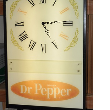 60's Dr. Pepper Restraunt Clock - Clocks