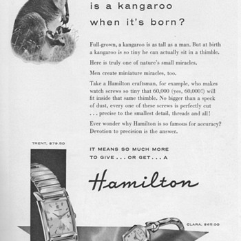 1955 - Hamilton Watch Advertisement - Advertising