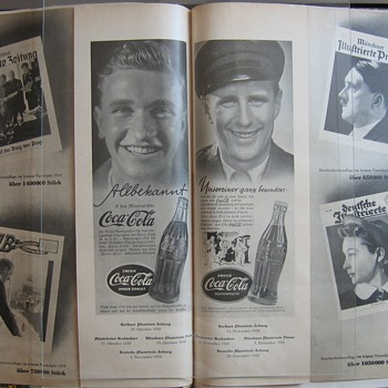 probably the only Ad ever issued with coca-cola and the führer in one picture