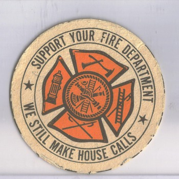 Beer Coaster Support your fire department - Firefighting
