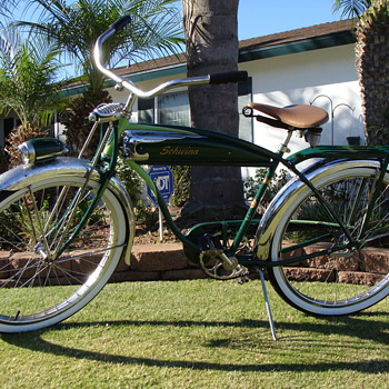 Kevins original 1950 schwinn panther. - Outdoor Sports