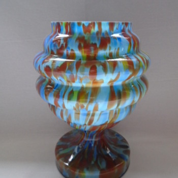Czech Art Deco Rose Bowl - Art Glass