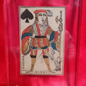 1780 Minot card - Cards