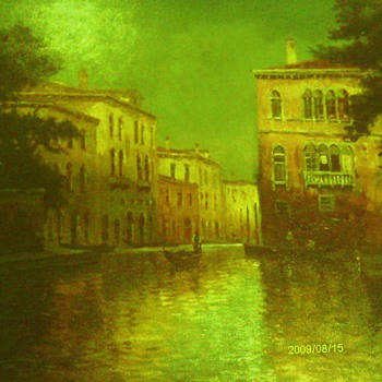 Oil Painting Signed by F. Ferruzza