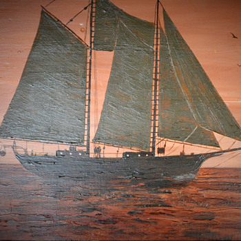 Schooner Sail Boat Painting on Wood