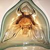 """Czech, Lorraine or Chalet ??? Amber,Green Glass Bowl""""1960-70"""