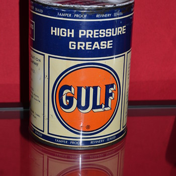 gulf grease can - Petroliana