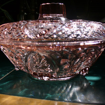 Pink Pressed Glass Bowl - Glassware