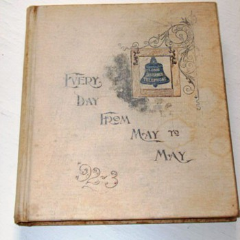 1892 American Bell Telephone Date Book - Telephones