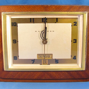 "Hammond Calendar Clock, ""Dayton"" 1941 - Art Deco"