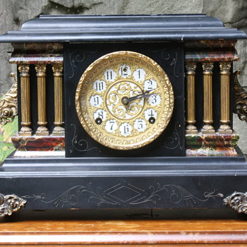 Sessions Black Parlour Mantel Clock