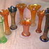 Collection of Carnival Glass Trunk Vases