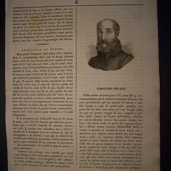 Girolamo Segato (article, mid-1800) - Paper
