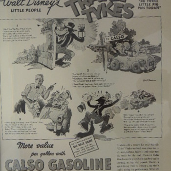 DISNEY CASLO GASOLINE AD - Advertising