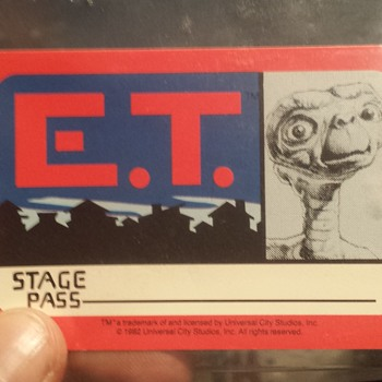 E.T. Stage pass from the movie set - Movies