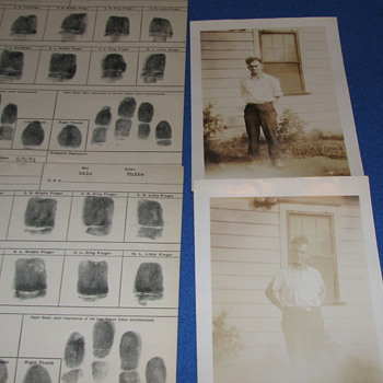 1931 Original Prisoner Photos from N.J. State Police