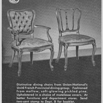 1950 Unite Chairs Advertisements - Advertising