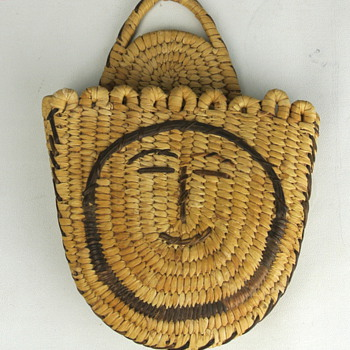 Happy Face Basket - Native American