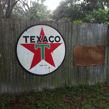 Texaco six foot sign double sided - Petroliana