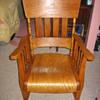 Oak seat rocker