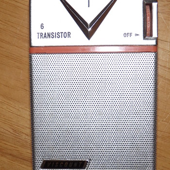Viscount Transistor Radio from 1960 with Warranty Card and Case!!