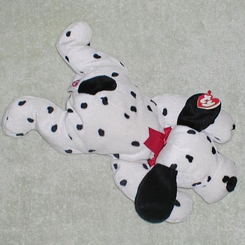 "1997 TY ""Spotty"" Dalmatian Plush Toy - Toys"
