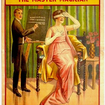 Original 1910 &quot;Gordon The Maser Magician&quot; Stone Lithograph Poster