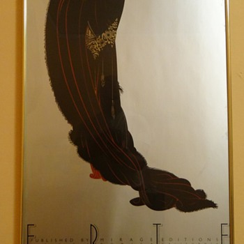 "MIRAGE EDITIONS - SANTA MONICA ,CAL -USA / COPYRIGHT DATES 1980 /""ERTE"" - Posters and Prints"