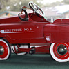 Unknown Fire truck NO.9  Pedal car R Stamped caps