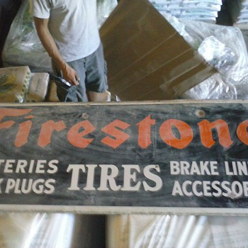 Firestone porcelain dealer sign - Signs