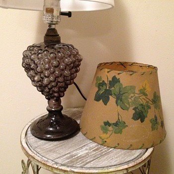 Glass Grape Cluster Lamp