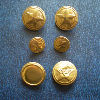 Bulgarian military buttons. - Military and Wartime