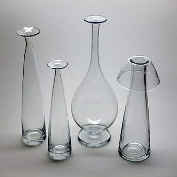 Three early Gunnar Nylund vases from Strömbergshyttan.