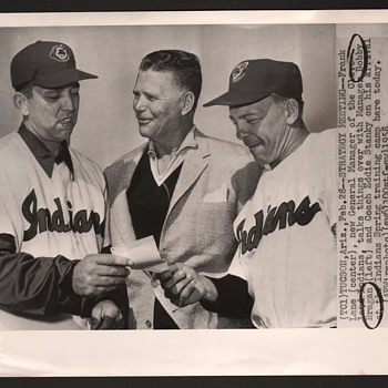CLEVELAND INDIANS 1958 Associate Press WirePhoto   - Baseball