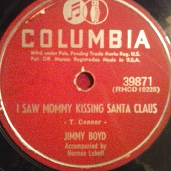 I Saw Mommy Kissing Santa Claus! - Records