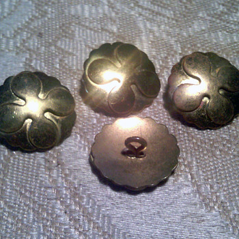 Antique? Vintage?  Brass Buttons - Sewing