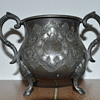Vintage or antique pewter cauldron
